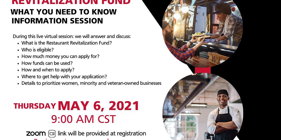 SBA Restaurant Revitalization Fund Information Session
