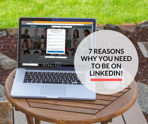 A laptop with the LinkedIn website opened in its web browser.