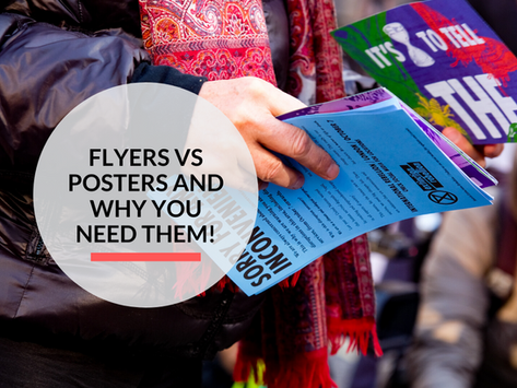 Difference between a Flyer and a Poster and Why you need them for your business!