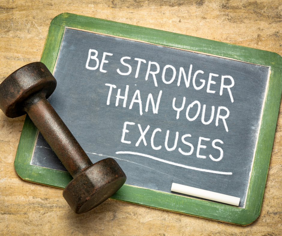 A quote that says be stronger than your excuses.