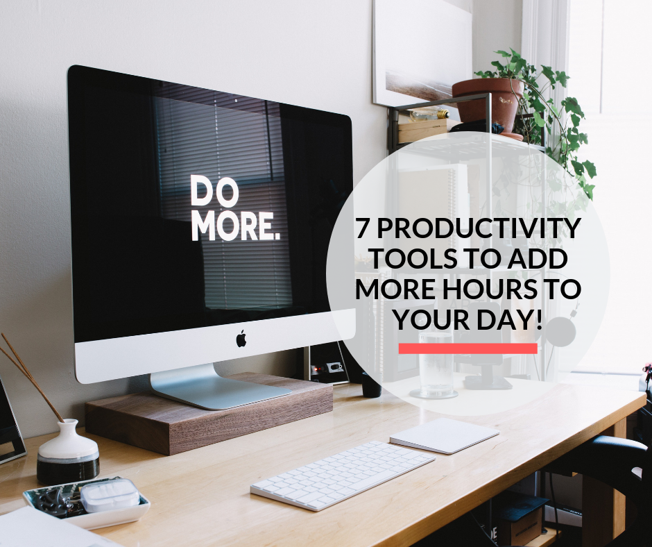 An iMac displaying the words Do More, providing motivation to be more productive.