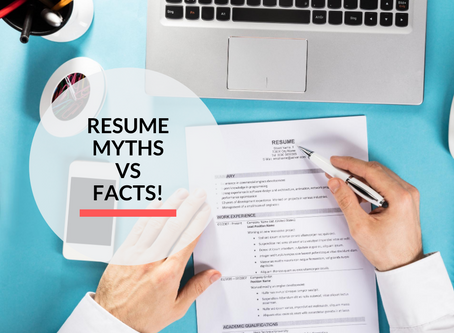 Resume Myths vs Facts!