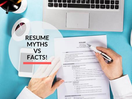 Resume Myths vs Facts!