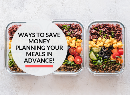 3 simple steps of meal planning in advance to save money!
