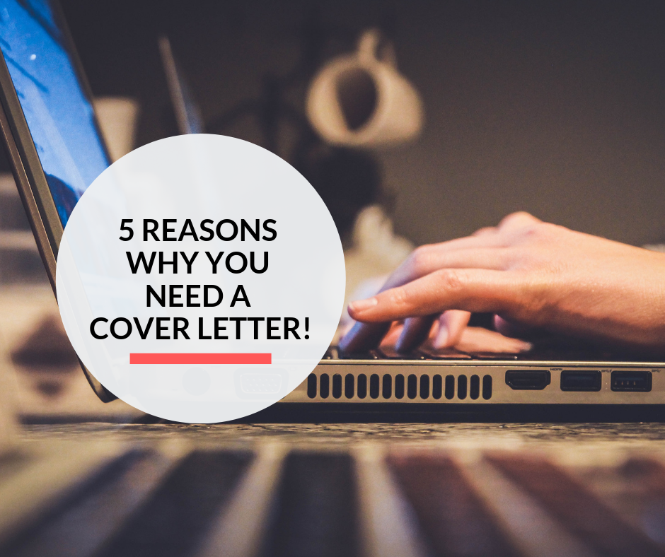 A lady using her laptop to write her cover letter for a job application.