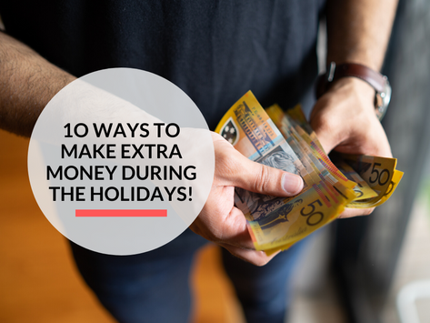 10 ways to make extra money during the holidays!