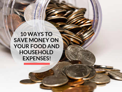 10 ways to Save Money on your Food & Household Expenses!
