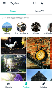 A screenshot of the Foap app displaying the photos being sold through it.