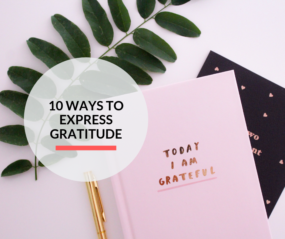 A gratitude journal on a desk for writing reasons for being grateful.