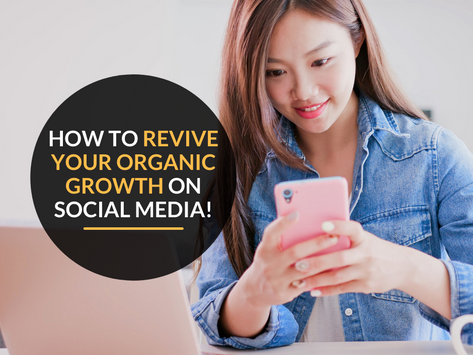 How to revive your organic growth on social media!