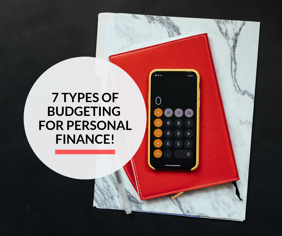 A calculator on a smartphone over a notebook to calculate expenses for budgeting.