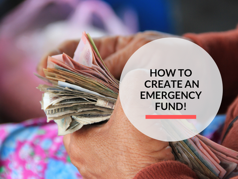 How to create an emergency fund!