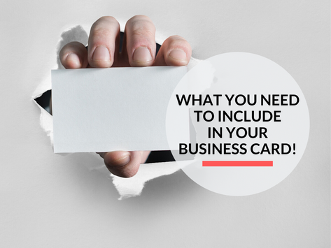 What to include on a business card!