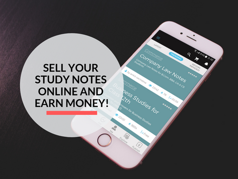 Earn cash by selling your study notes on your smartphone!