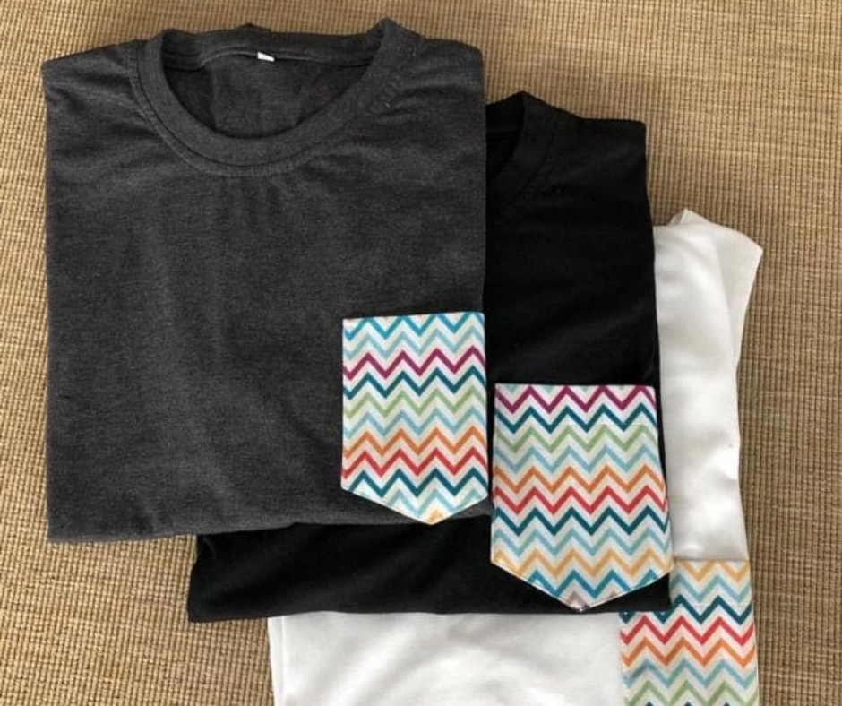 Pocket-tees from 0-Infinity, a clothing brand in the UAE.