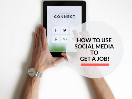 How to use Social Media to get a job!