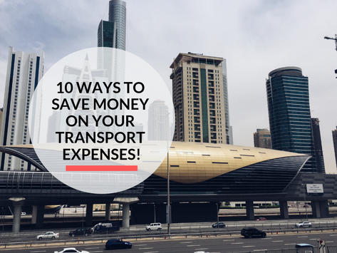 10 ways to Save Money on your Transportation Expenses!
