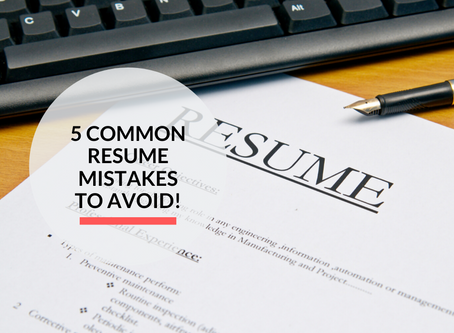 5 common resume mistakes to avoid!