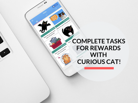 Get Instant Rewards with Curious Cat for completing tasks on your phone!