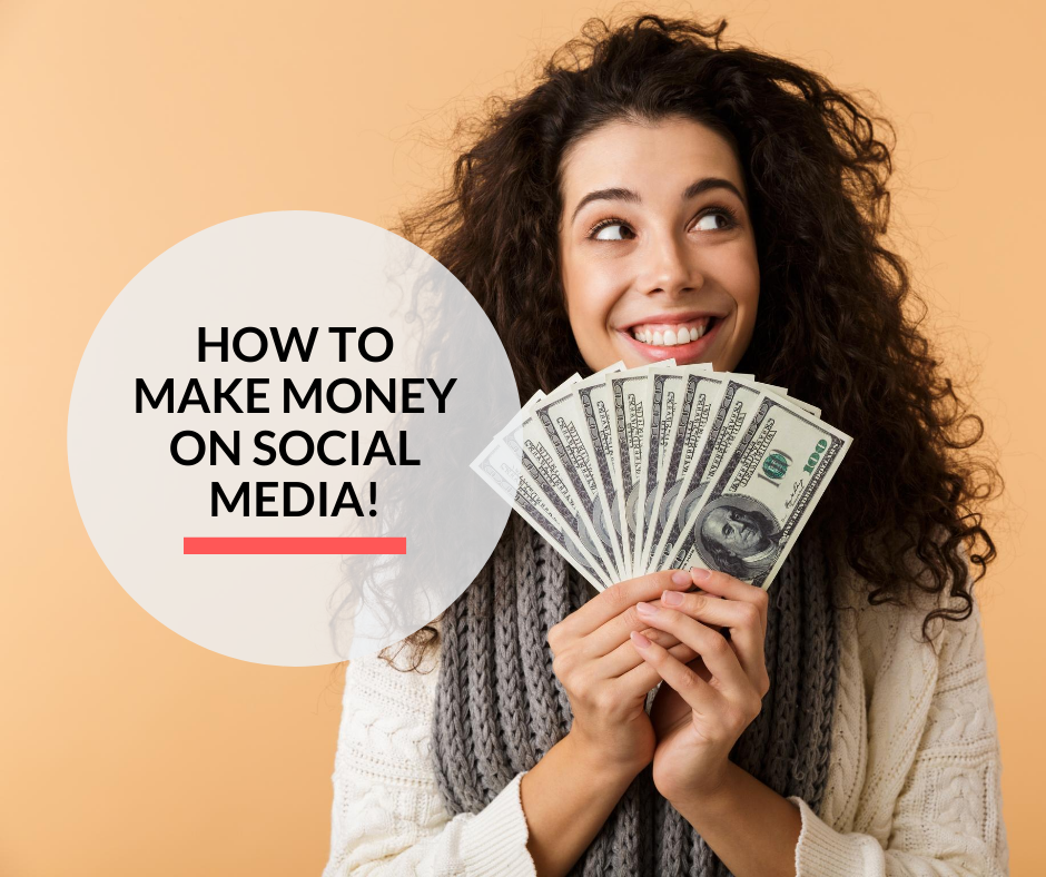 A lady making money using her social media