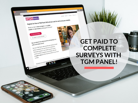 Complete surveys and get rewarded for your opinions with TGM Panel!