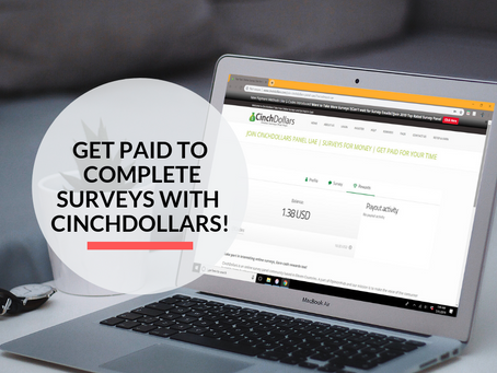 Get paid to complete surveys with Cinchdollars!