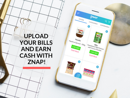 Convert your Grocery Bills to Cash with Znap!
