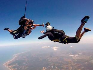 Beach Skydive Jump
