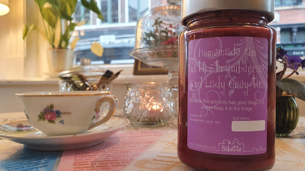 Lady Grey and Strawberry jam