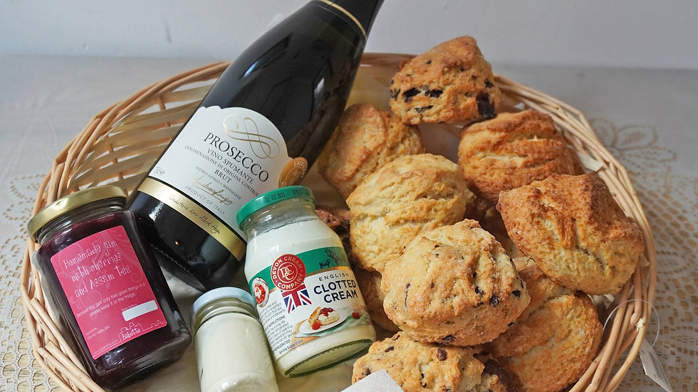 Large scone basket with bubbles