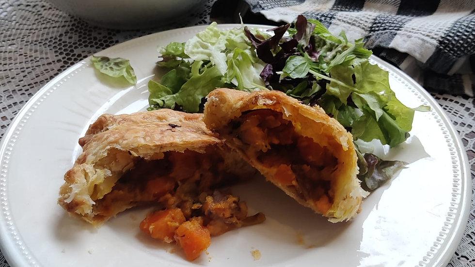 Vegan sweet potato and pumpkin pie