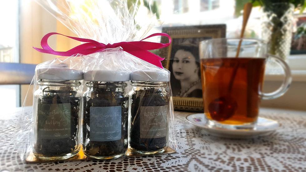 Three tea jars.