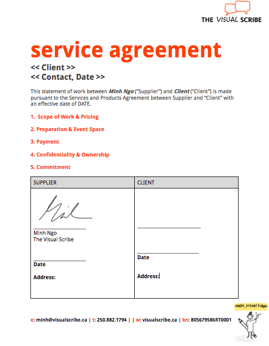 Visual Scribe_Service Agreement