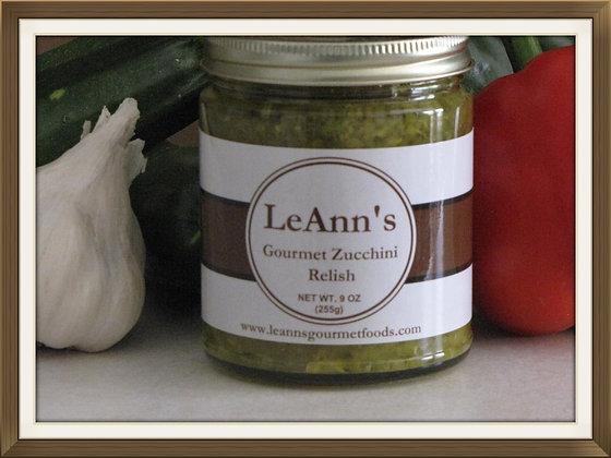 LeAnn's Gourmet Spicy Zucchini Relish 9 oz