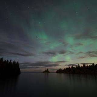 Isle Royale Herring Bay Aurora