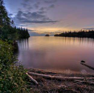 Isle Royale Herring Bay Sunset