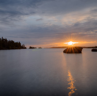 Isle Royale Belle Isle Sunrise