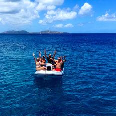 A dinghy ride ashore