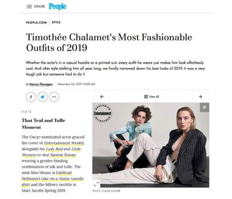 Timothee Chalamet x People.com