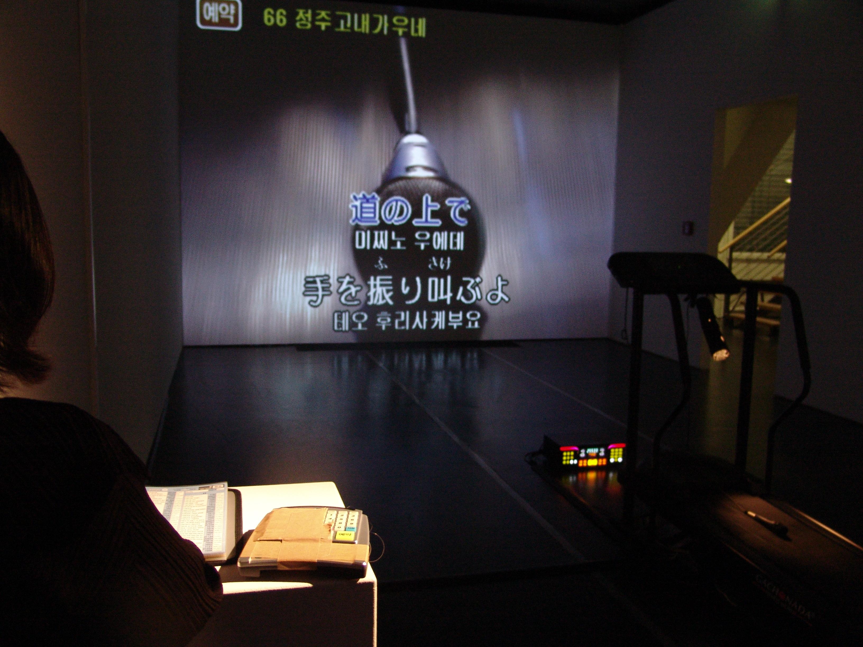 백남준의 대한 경의 karaoke 2008