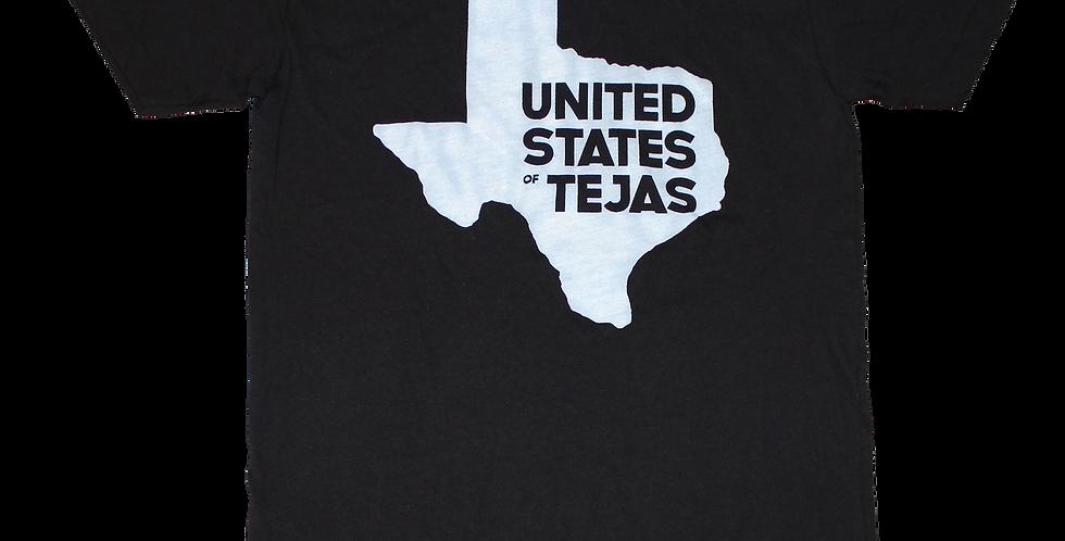 """Unisex """"United States of Tejas"""" tee (Black)"""