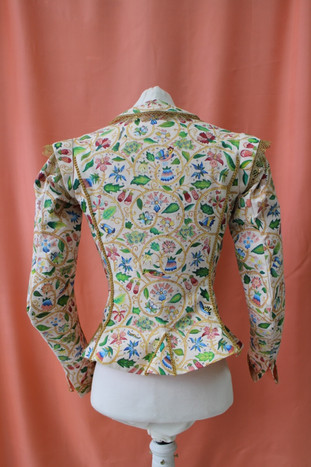 Hand painted reconstruction of Margaret Layton's Jacket