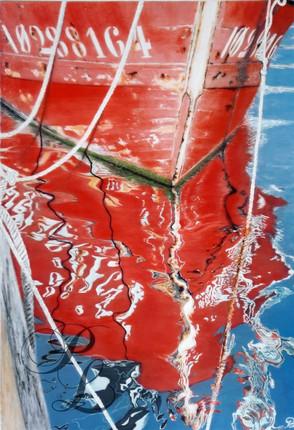 Reflets chalutier Acrylique 33x46
