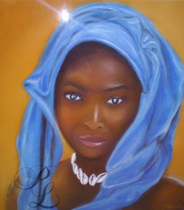 Jeune femme africaine Pastel Vendu