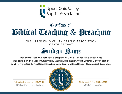 Offical Certificate of Teaching & Preach