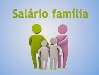 Tabela salário família 2017.