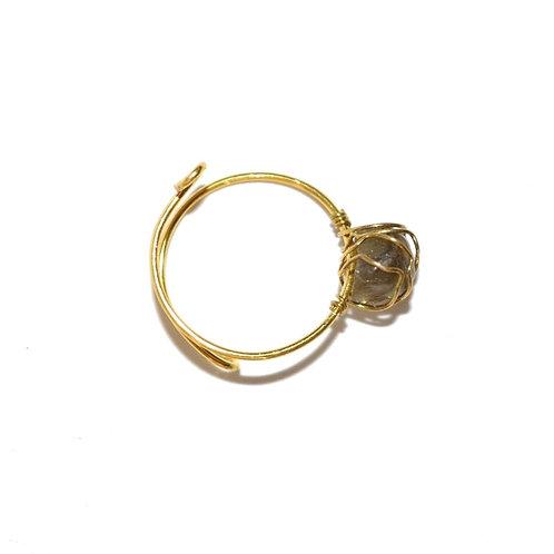 Mudra Ring - Labradorite Gemstone