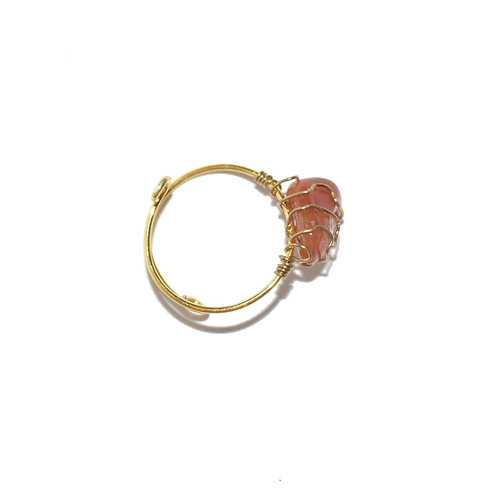Mudra Ring - Carneole Gemstone