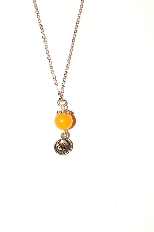 Recycled Pearl Yin Yang Necklace