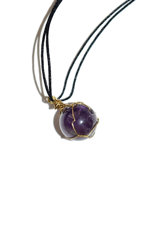 Recycled Amethyst Necklace